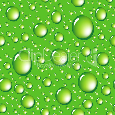 Seamless green water drops background.eps