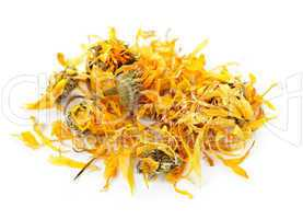 Dried calendula herb flowers