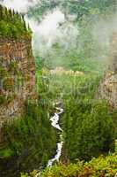 Canyon of Spahats Creek in Wells Gray Provincial Park, Canada