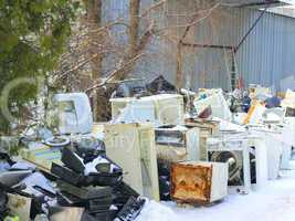 Dumping of household appliances