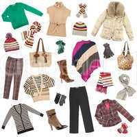 Lady's clothes. Winter warm clothes