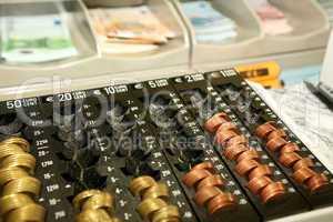 Kasse in einer Bank