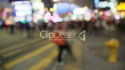 Defocused shot of a sleepless Night City