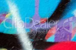 chipped paint graffiti