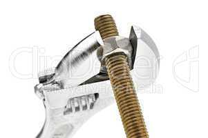 Bolt, nut and gaechy key