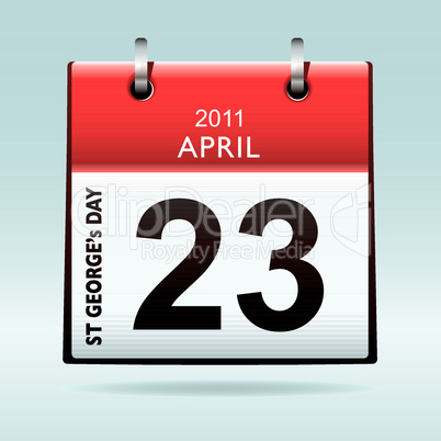 st georges day calendar icon