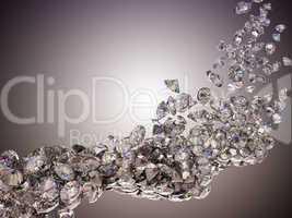 Large diamonds flow
