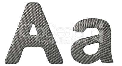 Carbon fiber font A lowercase and capital letters