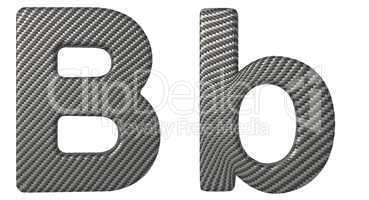 Carbon fiber font B lowercase and capital letters