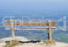 Sitzbank auf dem Berg - Seat Mountain View