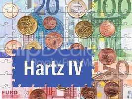 Hartz IV - Konzept mit Euros