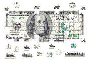 100 Dollar Puzzle - 100 Dollars Jigsaw