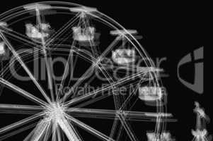 ferris wheel black and white