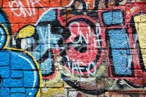 overlapping messy graffiti