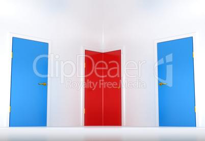 Right choice: conceptual corner door