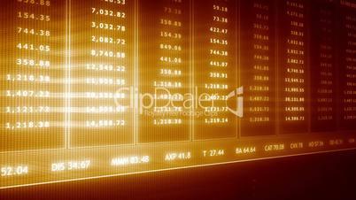 Große Anzeigentafel der aktuellen Börse