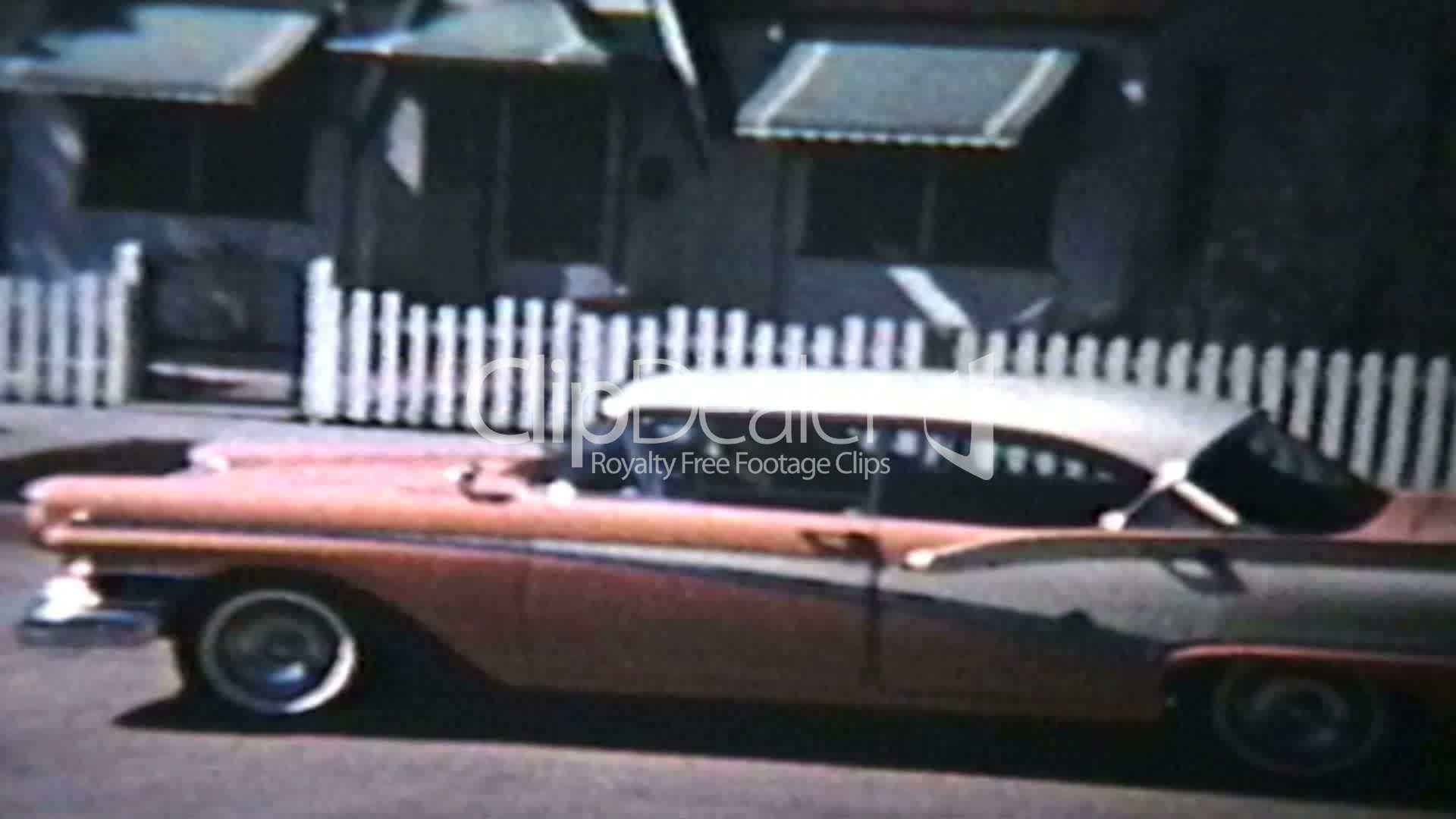 Old Cars Backing Up (1964 Vintage 8mm film): Royalty-free video ...