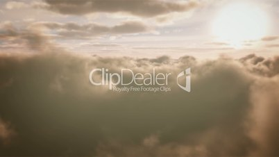 Beautiful Sunset Clouds Aerial Flight Heaven