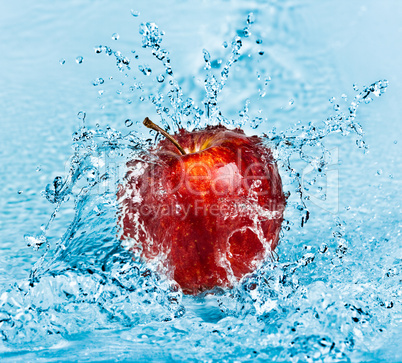 Apple and water