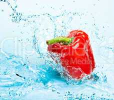 Pepper and water