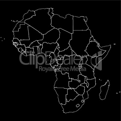 Outline Africa map.