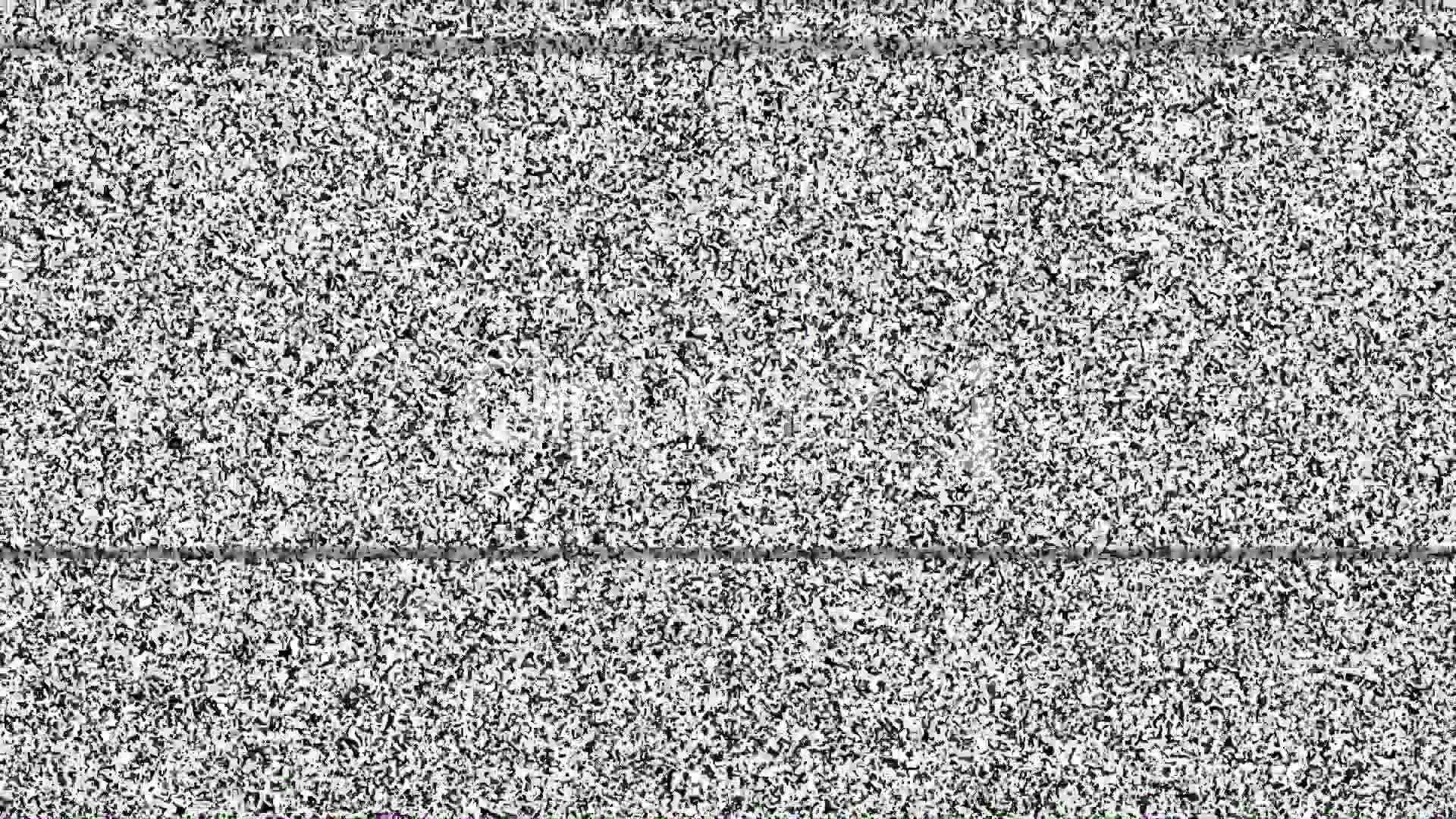 Static TV Noise 1080p with Sound: Royalty-free video and