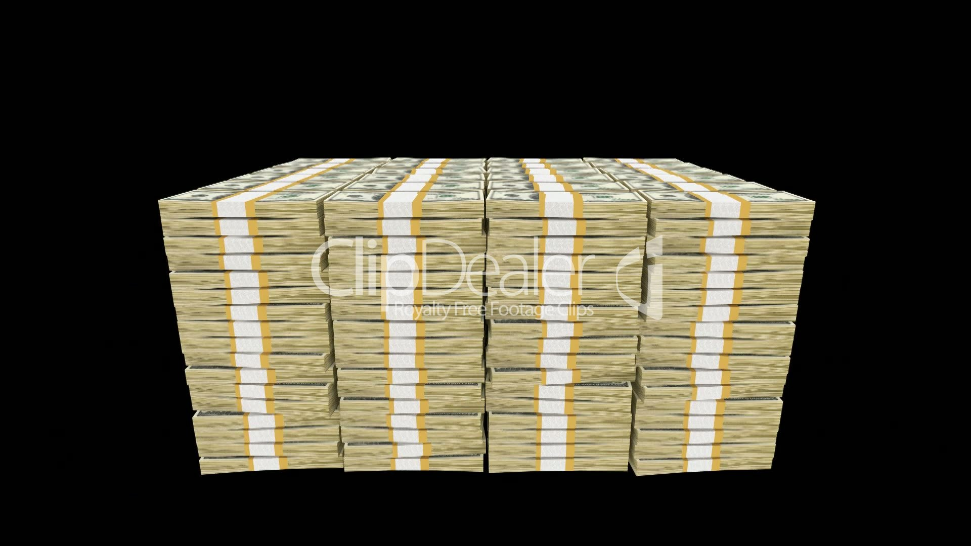 Money Bundles Royalty Free Video And Stock Footage