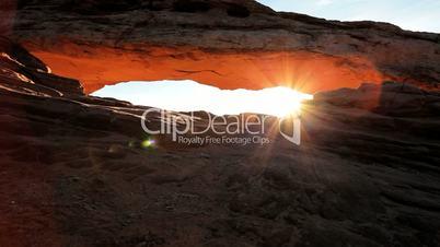Sunrise Panorama Seen Through Mesa Arch