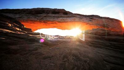 Desert Sunrise Through the Mesa Arch