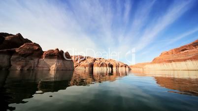 Lower Water Levels in Lake Powell, Arizona