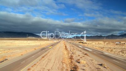 Time-lapse Traffic on Desert Highway