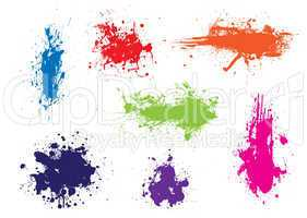 Ink splat grunge colour