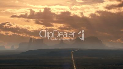 Time-lapse Clouds over Monument Valley