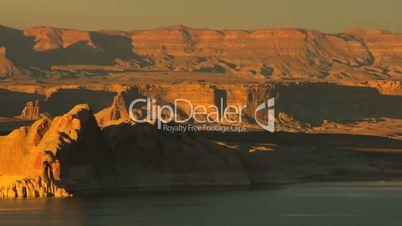 Sunrise Over Lake Powell Canyons