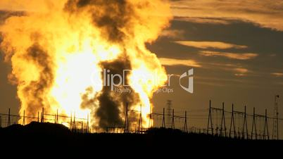 Energy Production Plant at Sunrise