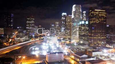 Time-lapse of Los Angeles City at Night