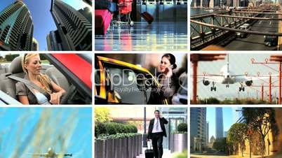 Montage of Methods of Business Travel