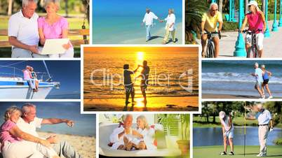 Montage of Leisure & Fitness in Retirement