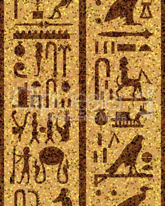egyptian seamless hieroglyphs