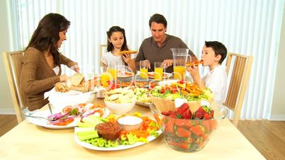 Family Healthy Meal Time Together