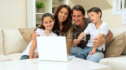 Family Using Internet Webchat