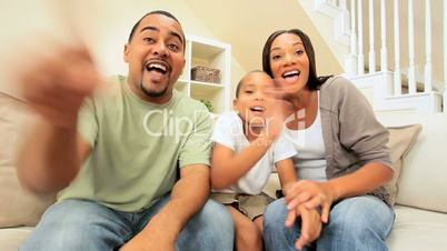 Ethnic Family Using Interactive Technology