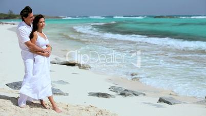 Couple in Love on Paradise Island