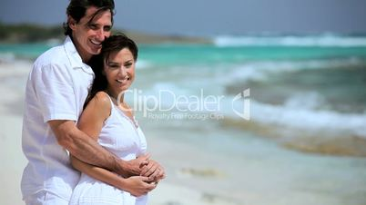 Attractive Couple in Love on Hideaway Island