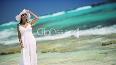 Young Female Enjoying a Peaceful Island Lifestyle