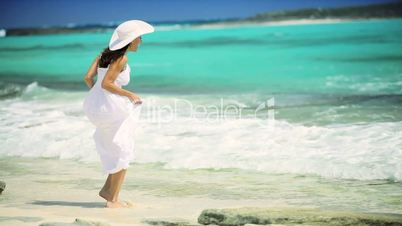 Beautiful Female Loving her Island Lifestyle