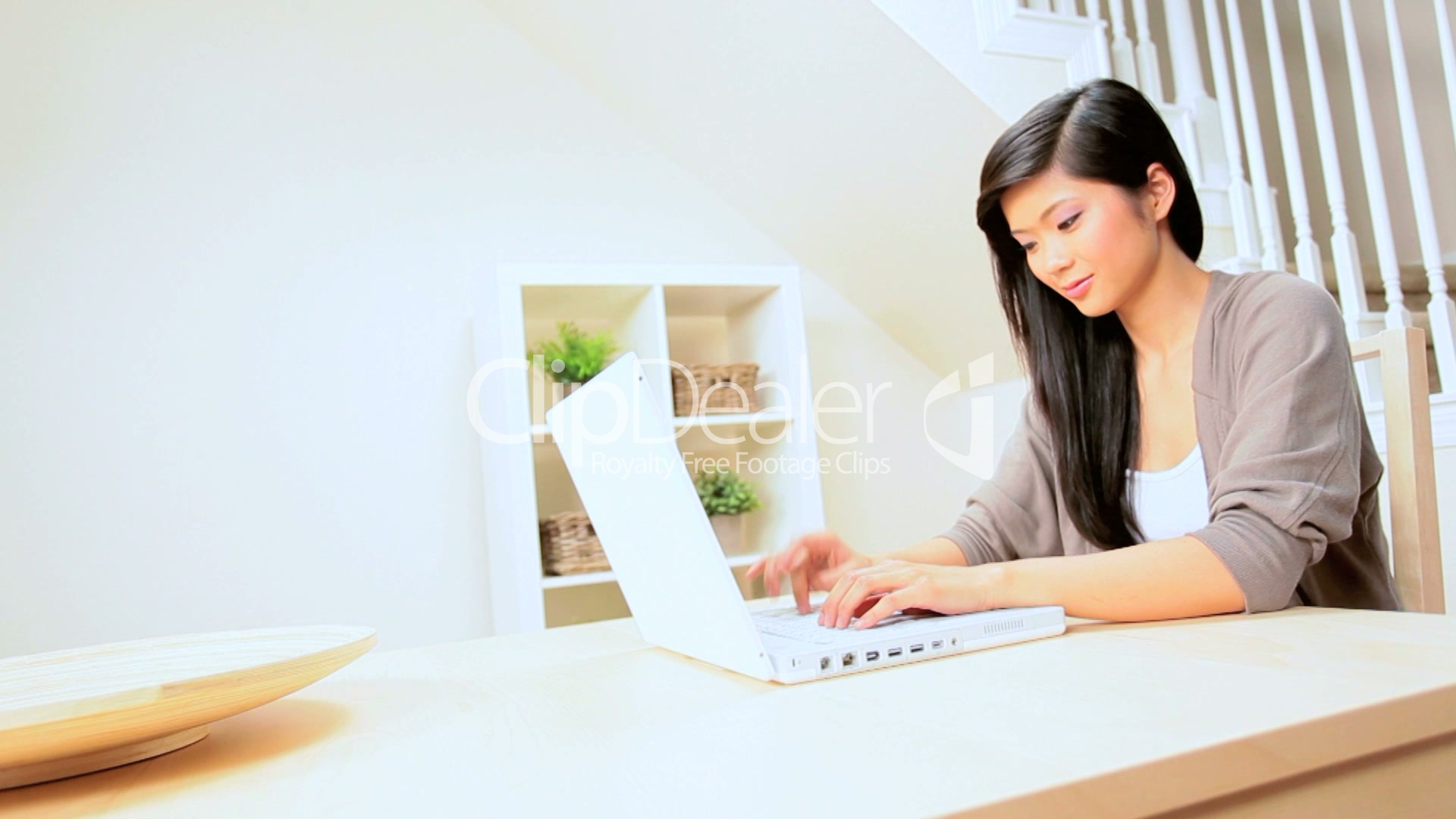 Asian Girl At Home With Laptop Royalty-Free Video And Stock Footage-7254