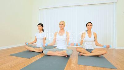 Multi-Ethnic Females at Fitness Studio