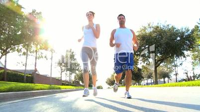Attractive Couple Jogging to Keep Fit