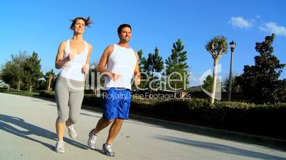 Healthy Couple Jogging Exercise